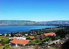 Modern day view of Kineret (Sea of Galilee)