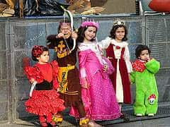 Children in fancy costumes