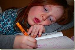 falling asleep at homework