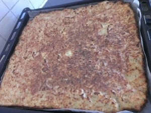 potato kugel (pudding)